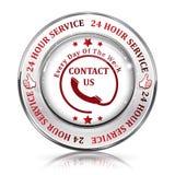 Heltid supporttjänst 24/7 timme service Royaltyfri Fotografi