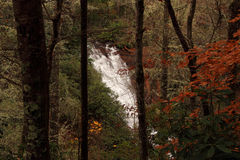 Helton Creek Falls. Scenic Helton Creek Falls in the Georgian Appalachians stock images