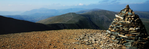 Helvellyn. Standing on top of Helvellyn - looking to the Derwent fells Royalty Free Stock Photography