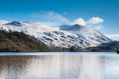 Helvellyn above Thirlmere Reservoir Royalty Free Stock Photo