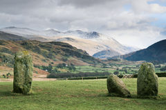 Helvellyn From Castlerigg Stone Circle Royalty Free Stock Photo