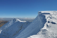 Helvellyn Mountain In Winter Royalty Free Stock Photography