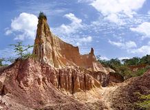 Helvete kök, Marafa kanjon, Kenya Royaltyfri Fotografi