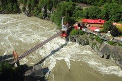 Helvete port, Fraser flod royaltyfri foto