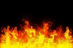 helvetemöte vektor illustrationer