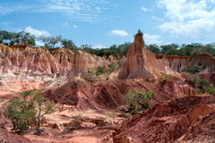 Helvetets kök, Marafa kanjon, Kenya Arkivbilder