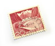 Helvetia Stamp Royalty Free Stock Images