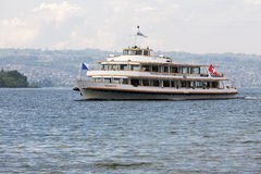 Helvetia vessel at Lake Zurich next to Rapperswil Stock Photos