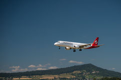 Helvetic Airbus A 319-100 Imagens de Stock Royalty Free