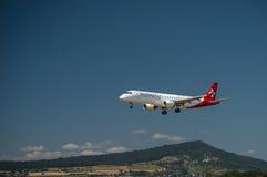Helvetic Airbus A 319-100 Images libres de droits