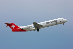 Helvetic Airways Fokker F100 Stock Photos
