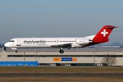 Helvetic Fluglinien Lizenzfreie Stockfotografie