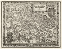 Helvigs map of Silesia from the year 1561, edition 1685 Royalty Free Stock Photos