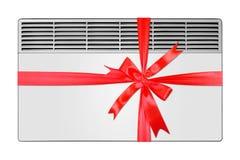 Hem- anordning - elektrisk konvektionvärmeapparat för gåva isolerat arkivbild