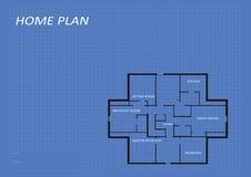 Hem- arkitekturplan Arkivbild