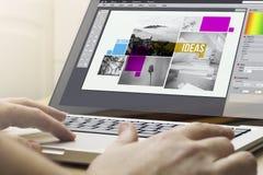 hem- beräknande grafisk design royaltyfri foto