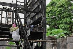 Hem- brand den abstrakta detaljen avbildar brandkatastrof från ett hem royaltyfri bild