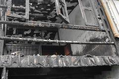 Hem- brand den abstrakta detaljen avbildar brandkatastrof från ett hem royaltyfri fotografi
