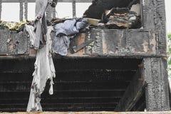 Hem- brand den abstrakta detaljen avbildar brandkatastrof från ett hem royaltyfri foto