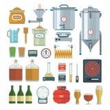 Hem- brygga processobjekt royaltyfri illustrationer