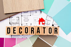 Hem- dekoratör - inredesign arkivfoto