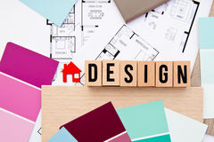 Hem- design - inre dekorera arkivfoto