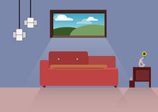 Hem- design, inrehem, lägenhetstil som är inomhus, hus royaltyfri foto