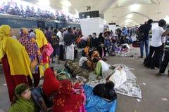 Hem- destinerat folk sista dag av Eid-ul-Adha Fotografering för Bildbyråer