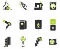 Hem- för applicances symboler enkelt Arkivbild