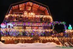 Hem för julferiehus Royaltyfri Bild