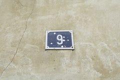 Hem för nummer nio Arkivfoto