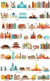 Hem från världen vektor illustrationer