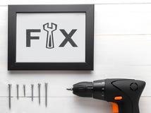 Hem- garnering för hem för DIY-fixandehjälpmedel Fotografering för Bildbyråer
