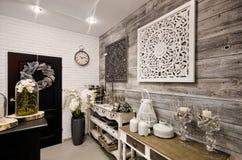 Hem- garneringar shoppar inre Fotografering för Bildbyråer