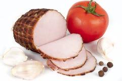 Hem. Homemade ham with tomato, garlic and pepper Stock Image