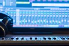 Hem- inspelningstudio royaltyfria foton