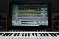 Hem- inspelningstudio arkivbild