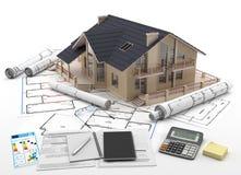 Hem- köp - Real Estate Arkivfoto