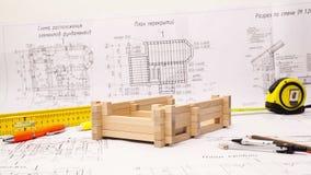 Hem- konstruktionsprocess stock video