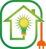 Hem- logo för makt royaltyfri illustrationer