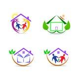Hem- logoer Arkivbilder