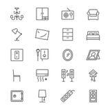 Hem- möblemang gör symboler tunnare Royaltyfri Foto