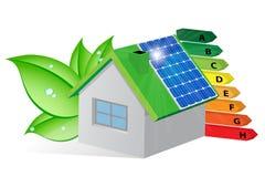 Energi-besparing stock illustrationer