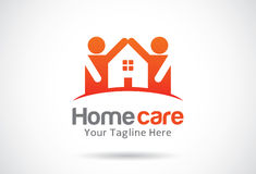 Hem- omsorg Logo Template Design Vector, emblem, designbegrepp, idérikt symbol, symbol Royaltyfria Bilder