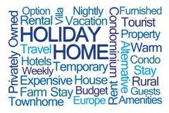 Hem- ordmoln för ferie stock illustrationer