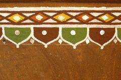 Hem Rajasthan Indien för lantlig by Arkivbilder