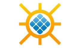 Hem- sol- cell för makt stock illustrationer