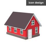 Hem- symbol för hus stock illustrationer