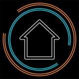 hem- symbol, vektorfastighethus vektor illustrationer