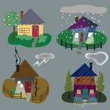 Hem- symboler för vinter Arkivbild
